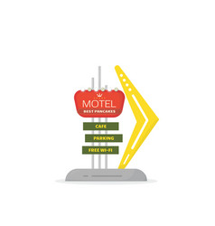 road motel sign template vector image
