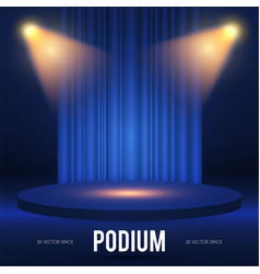 round podium scene pedestal and 3d platform vector image