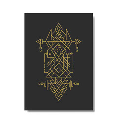 Sacred geometry mighty sign vector