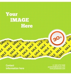 Sale design background vector image