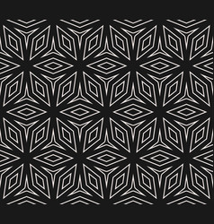 seamless ornament pattern with lines floral shapes vector image
