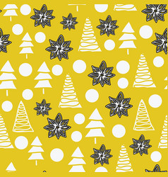 seamless pattern different white christmas vector image