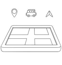 set of navigation equipment vector image
