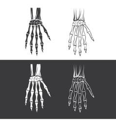 Set skeleton hands vector