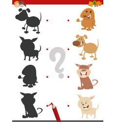 shadow game with puppies vector image