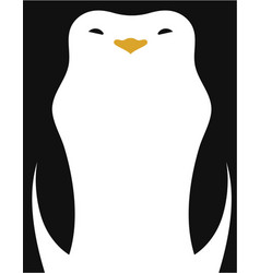 simple image penguin vector image