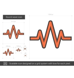 Sound wave line icon vector