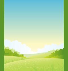 Summer or spring nature landscape vector