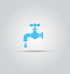 tap isolated colored icon vector image