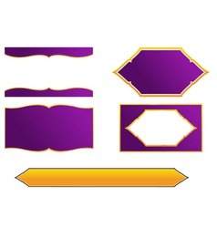 Thai frame and border style vector image vector image