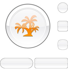 Tropical white button vector