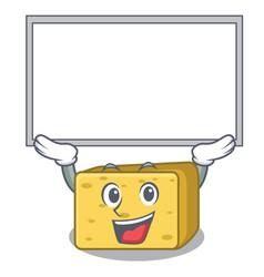 Up board gouda cheese character cartoon vector