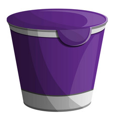 violet yogurt pack icon cartoon style vector image
