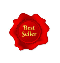Wax seal best seller on white background stock vector