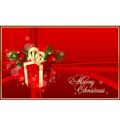 xmas red background vector image