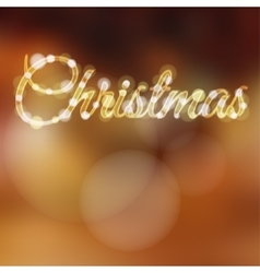 Christmas background with glitter lights vector image vector image