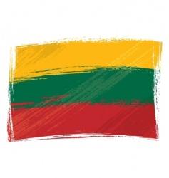 grunge Lithuania flag vector image