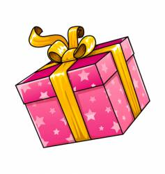 holiday gift present isolated vector image vector image