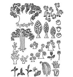 tree doodle vector image