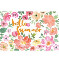 Watercolor flower summer vector image vector image