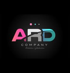 ard a r d three letter logo icon design vector image vector image