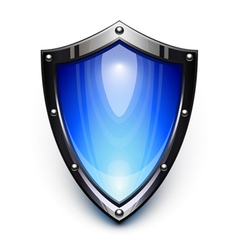 blue security shield vector image vector image