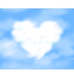 Cloudy heart vector image vector image
