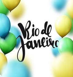Rio de janeiro inscription galligraphy handmade vector
