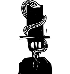 Snake Hat vector image vector image