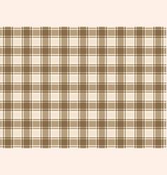 tartan plaid brown vector image