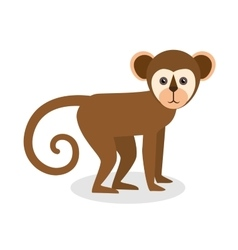 brazil monkey animal design vector image