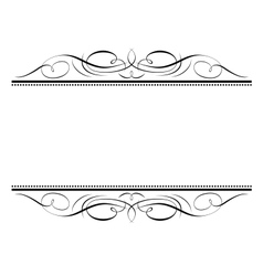 calligraphy vignette ornamente vector image