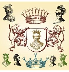 heraldry sketches vector image