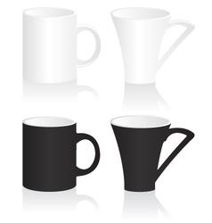 Mug black and white vector image