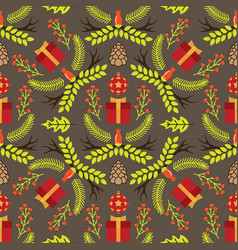 seamless pattern with the image of branches and vector image vector image