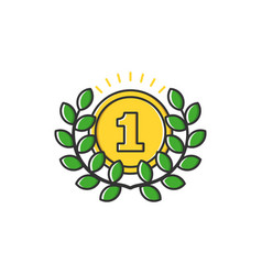 business of gold medal with vector image