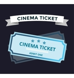Cinema tickets on background vector image vector image