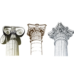 columns set vector image