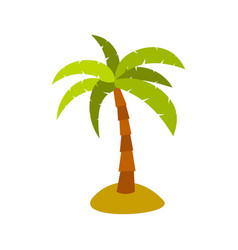 palm icon flat style vector image vector image