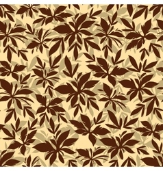 Seamless Background Leaves Silhouettes vector image vector image