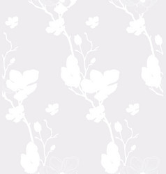 seamless pattern with drawn cherry flowers vector image