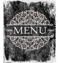 Template for cover with a menu on the vintage vector image