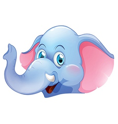 A blue elephant vector image