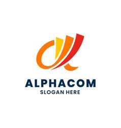 Abstract alpha logo template design creative vector
