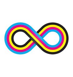 Abstract cmyk infinity vector image