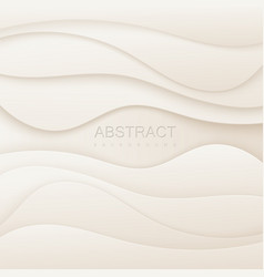 abstract white background with paper cutout layers vector image