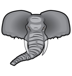 an African elephant vector image