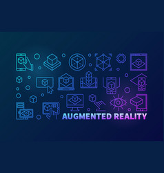 augmented reality bright horizontal outline vector image