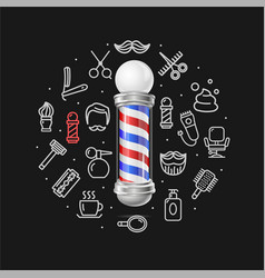barbershop concept with realistic detailed 3d vector image