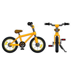 Bicycle with yellow frame vector